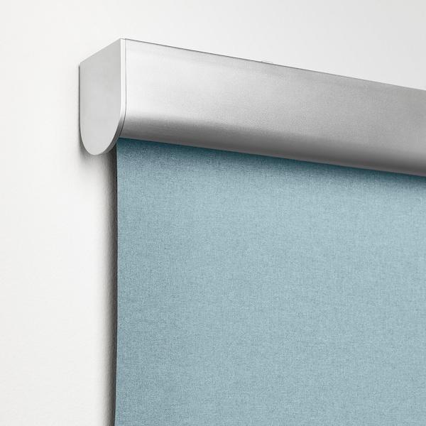 TRETUR Block-out roller blind, light blue, 80x195 cm
