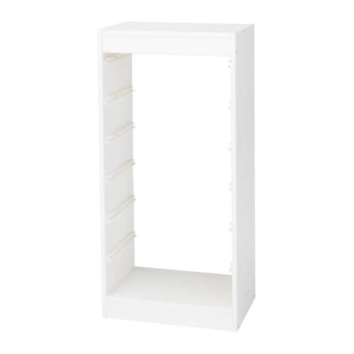 TROFAST Frame IKEA A sufficient number of guide rails are included for you to be able to combine as many boxes/shelves as you like.