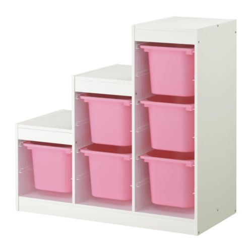 TROFAST Storage combination IKEA A playful and sturdy storage series for storing and organising toys, sitting, playing and relaxing.