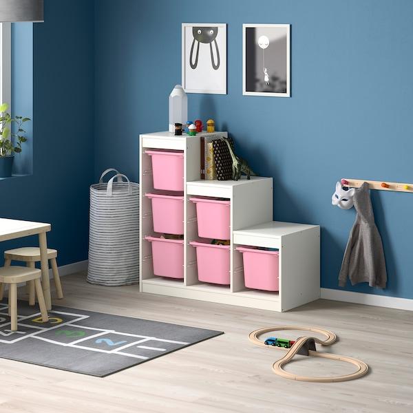 TROFAST Storage combination, white/pink, 99x44x95 cm