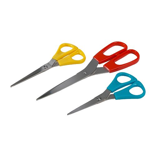TROJKA Scissors, set of 3 IKEA Designed both for right-handed and for left-handed persons.