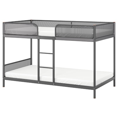 TUFFING Bunk bed frame, dark grey, Single