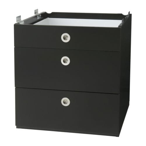 UDDEN Drawer unit IKEA To be fitted under UDDEN console for convenient storage of cutlery, kitchen utensils, etc.  Smooth-running drawers with stop.