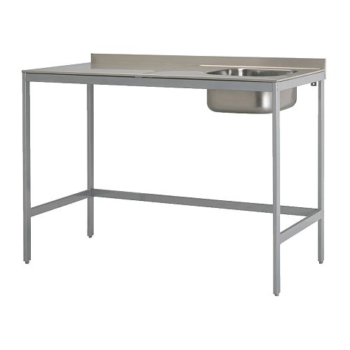 UDDEN Single bowl sink with legs IKEA Freestanding unit; easy to ...