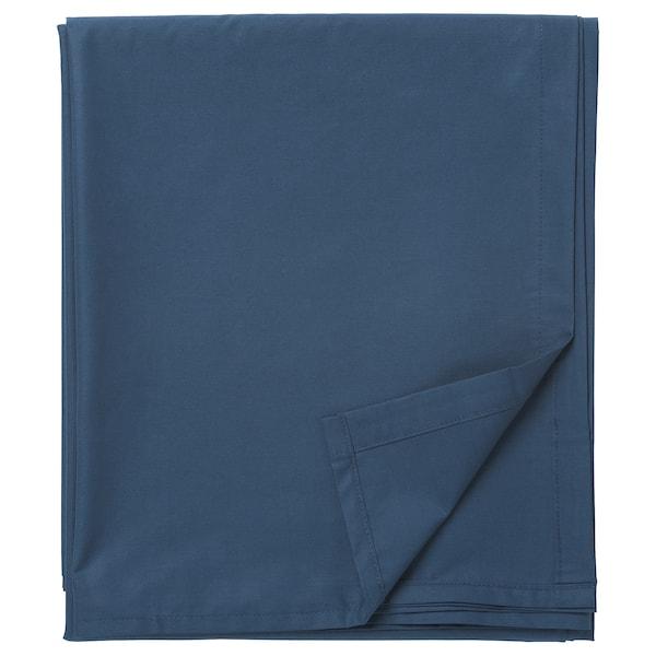 ULLVIDE Flat sheet, dark blue, King