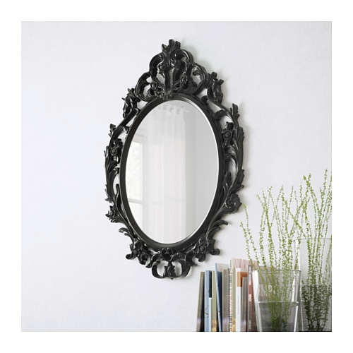 Ung drill mirror ikea for Miroir ikea noir