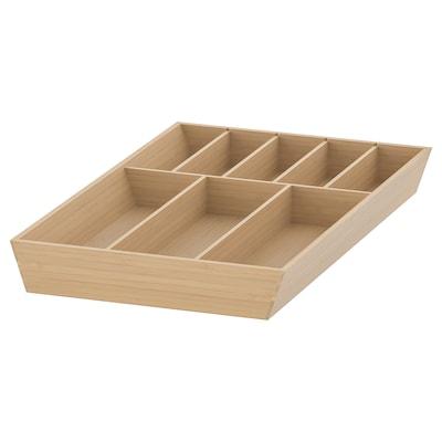UPPDATERA Cutlery tray, light bamboo, 32x50 cm