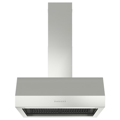 UPPFRISKANDE Wall mounted extractor hood, stainless steel colour