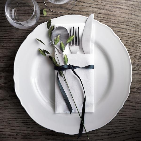 UPPLAGA Plate, white, 28 cm