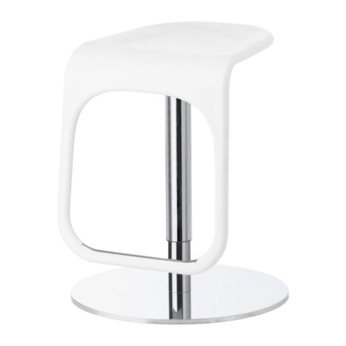 URBAN Bar stool IKEA Easy to adjust in heights with only one hand.  With footrest for relaxed sitting posture.