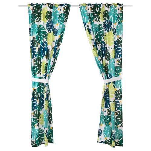 IKEA URSKOG Curtains with tie-backs, 1 pair