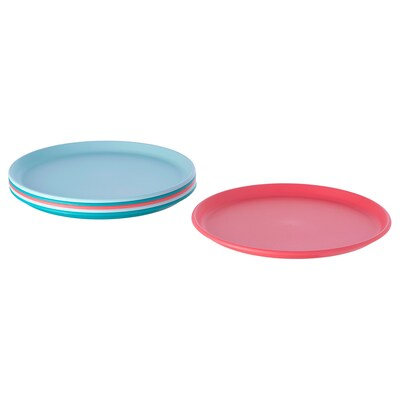 UTEFEST Side plate, mixed colours, 21 cm