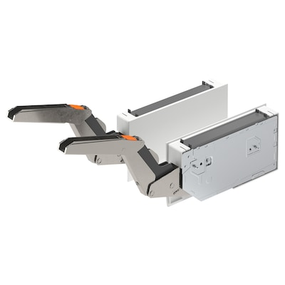 UTRUSTA Hinge w damper for horizontal door, white