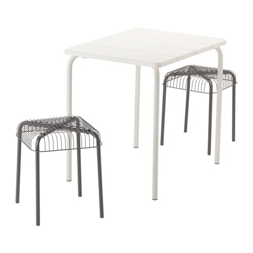 V 196 Dd 214 V 196 Ster 214 N Table And 2 Stools Outdoor White Grey