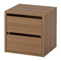 VADHOLMA drawer unit, brown, stained ash