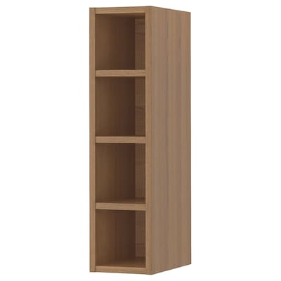 VADHOLMA Open storage, brown/stained ash, 20x37x80 cm