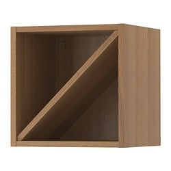 VADHOLMA wine shelf, brown, stained ash