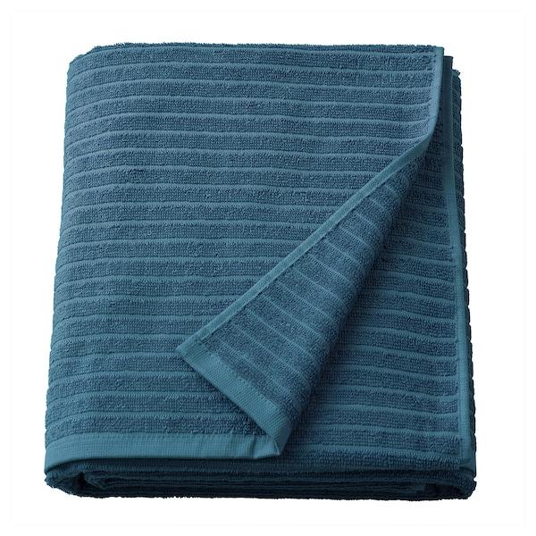 VÅGSJÖN Bath sheet, blue, 100x150 cm