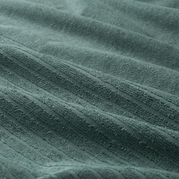 VÅGSJÖN Bath sheet, grey-turquoise, 100x150 cm