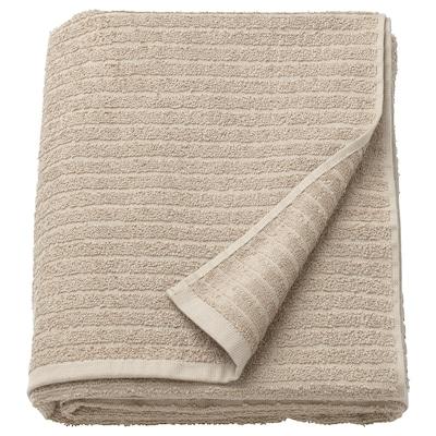 VÅGSJÖN Bath sheet, light beige, 100x150 cm