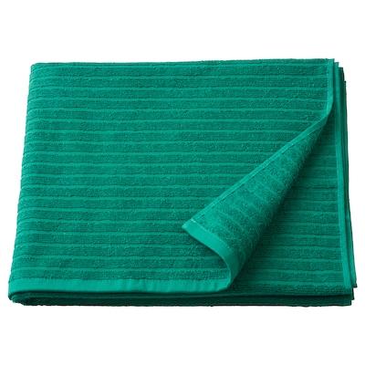 VÅGSJÖN Bath towel, dark green, 70x140 cm