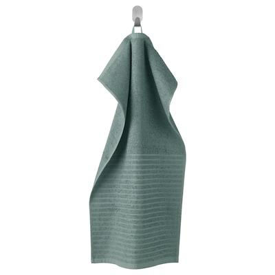 VÅGSJÖN Hand towel, grey-turquoise, 40x70 cm