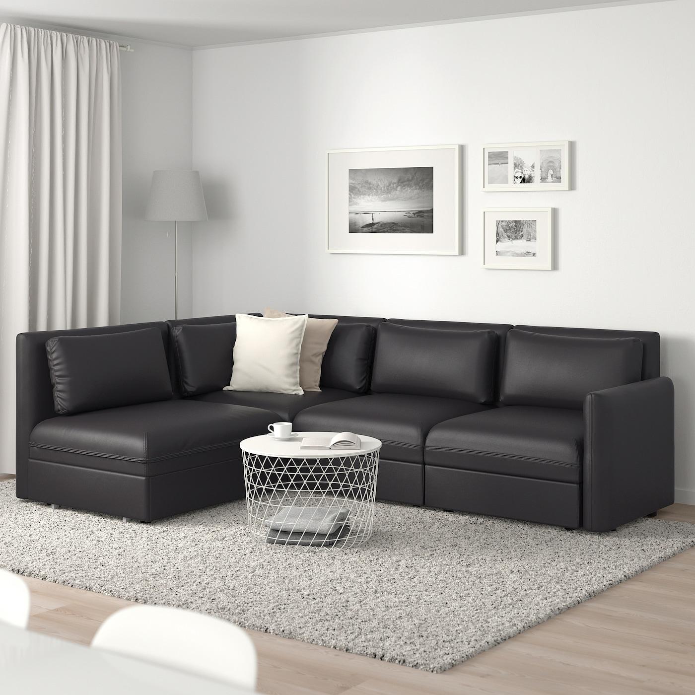 Picture of: Vallentuna Modular Corner Sofa 3 Seat Sofa Bed And Storage Murum Black Ikea
