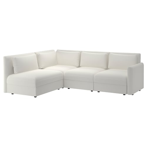 VALLENTUNA modular corner sofa, 3-seat with storage/Murum white 93 cm 84 cm 266 cm 193 cm 80 cm 45 cm