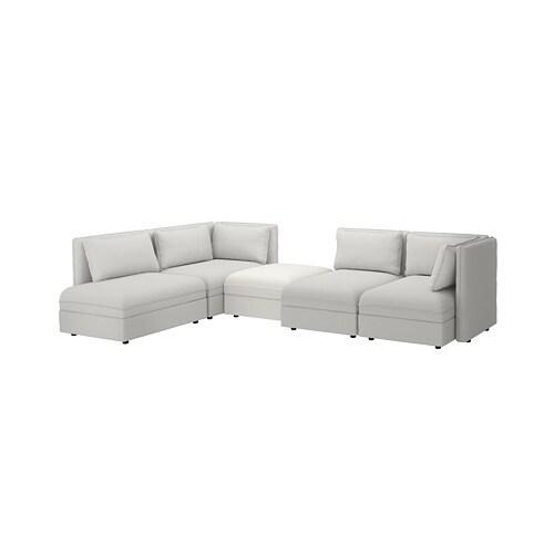 Swayde Blue Ikea Sofa: VALLENTUNA Modular Corner Sofa, 4 Seat