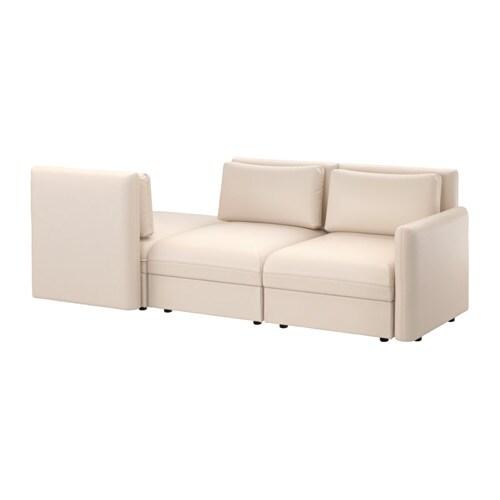 Vallentuna 3 Seat Sofa With Bed Murum Beige Ikea