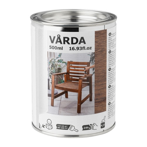 V rda wood stain outdoor use brown ikea - Exterior white wood paint collection ...