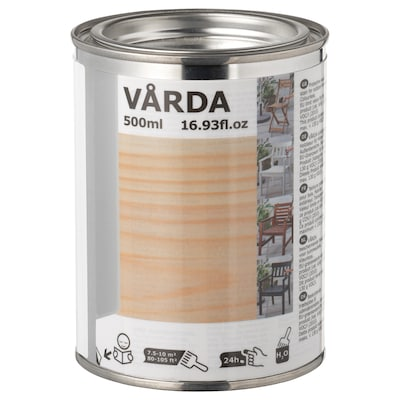 VÅRDA Wood stain, outdoor use, colourless