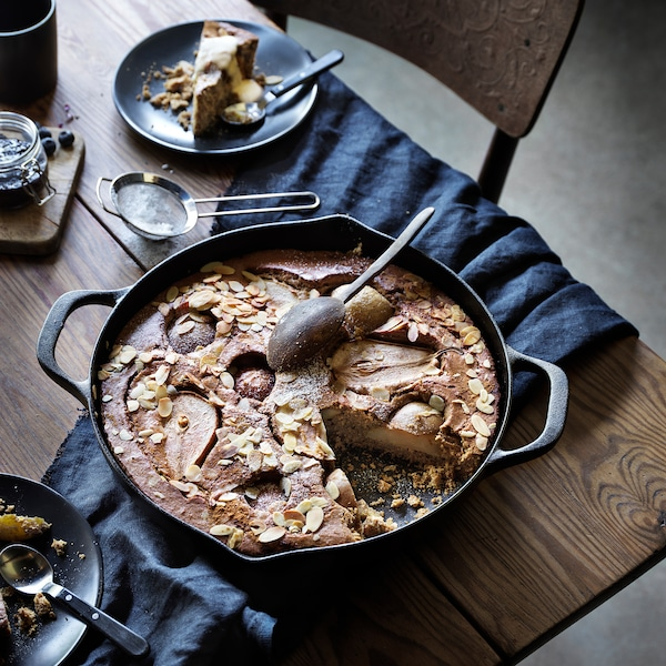 VARDAGEN frying pan cast iron 6 cm 32 cm