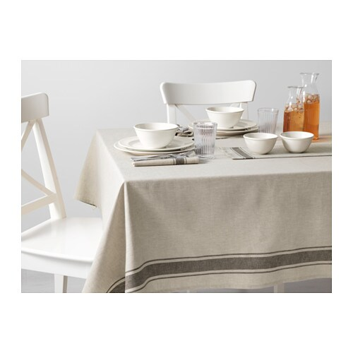 VARDAGEN Tablecloth IKEA Cotton/linen blend with the softness of cotton and the lustre and firmness of linen.