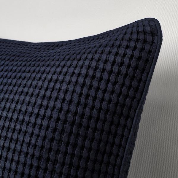 VÅRELD Cushion cover, black-blue, 50x50 cm