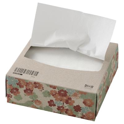 VÅRFINT Paper napkin, white, 16x32 cm