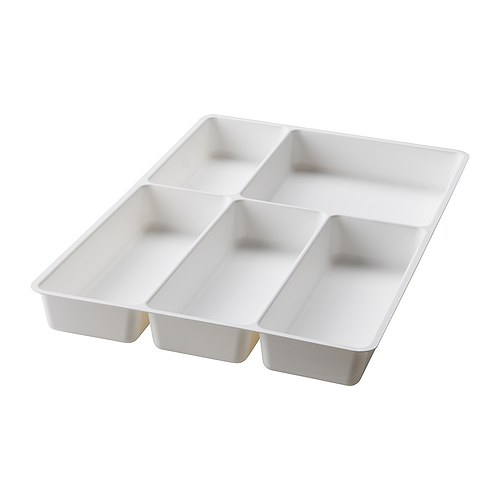 VARIERA Cutlery tray IKEA Dimensioned for RATIONELL drawer 40 cm wide; makes maximum use of the space.