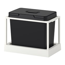 VARIERA /  UTRUSTA waste sorting for cabinet