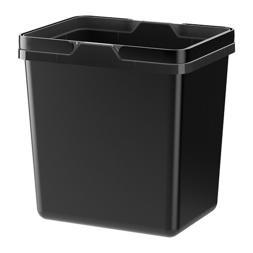 VARIERA Waste sorting bin IKEA Folding handle keeps the bin liner in