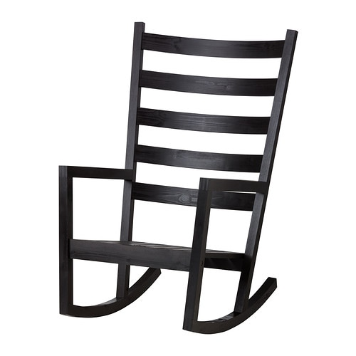 V rmd rocking chair in outdoor black brown stained ikea for Chaise rocking chair ikea