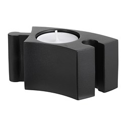 VÄRMER candlestick/tealight holder, black