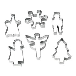 VÄRMER pastry cutter, set of 6, assorted shapes stainless steel