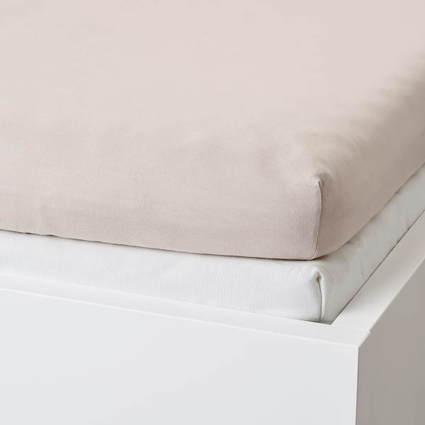 VÅRVIAL Fitted sheet for day-bed, beige, Single