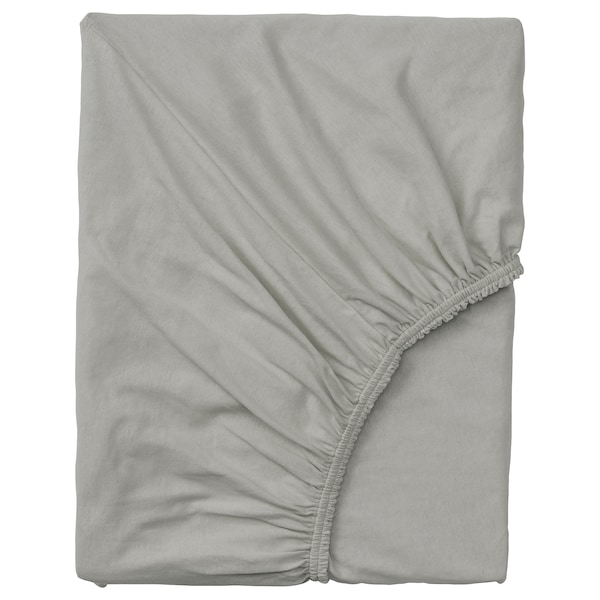 VÅRVIAL Fitted sheet for day-bed, light grey, Single