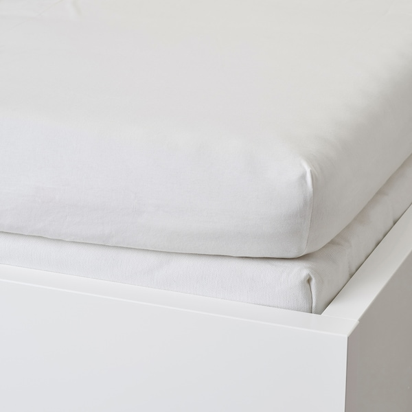 VÅRVIAL Fitted sheet for day-bed, white, Single