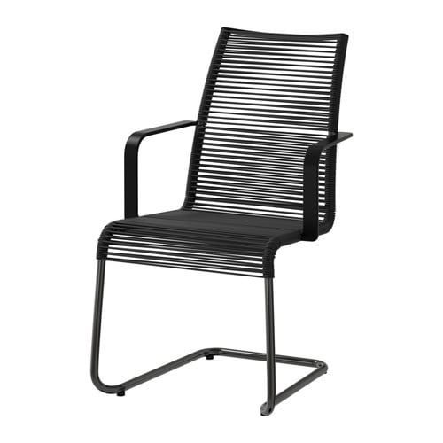 VÄSMAN Chair with armrests IKEA The materials in this outdoor furniture require no maintenance.  Easy to keep clean; simply wipe with a damp cloth.