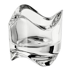 VÄSNAS tealight holder, clear glass