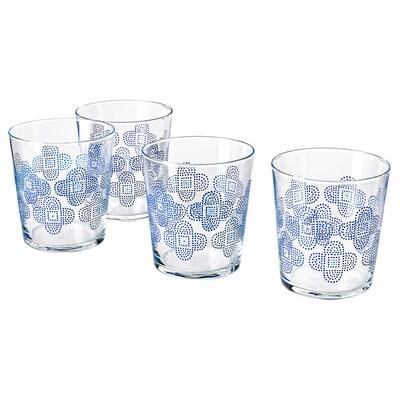 VATTENDANS Glass, glass/patterned, 30 cl