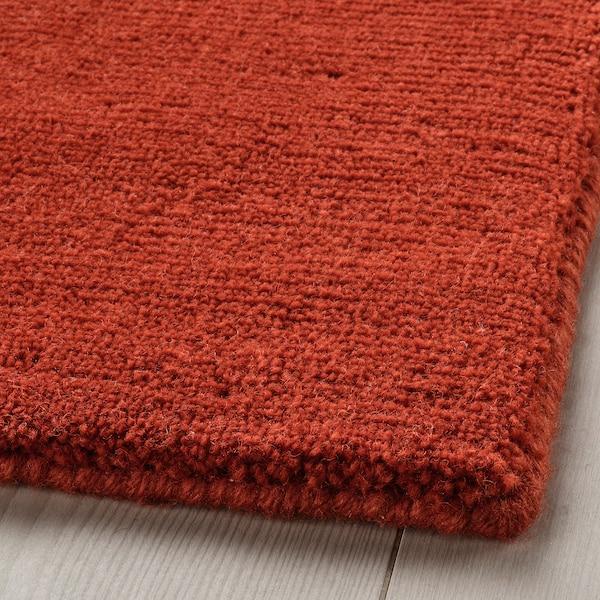 VESTERBORG Rug, low pile, handmade red, 170x240 cm