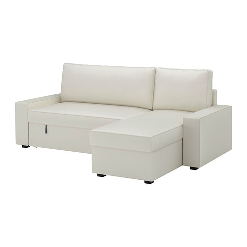 Vilasund marieby sofa bed with chaise longue vittaryd for Chaise longue bed